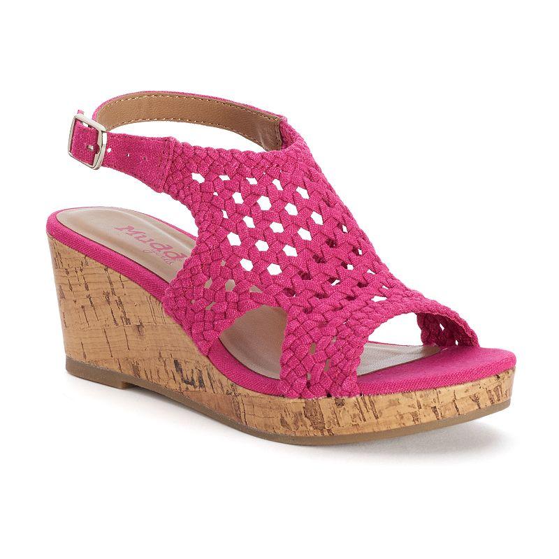 Mudd® Girls' Woven Wedge Sandals