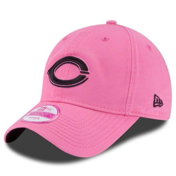 Women's New Era Cincinnati Reds 9TWENTY Preferred Pick Pink Adjustable Cap