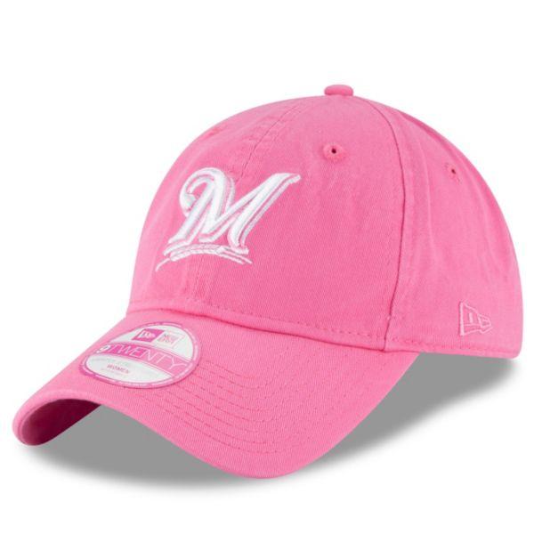Women's New Era Milwaukee Brewers 9TWENTY Preferred Pick Pink Adjustable Cap