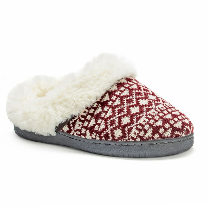 MUK LUKS Women's Marled Knit Clog Slippers
