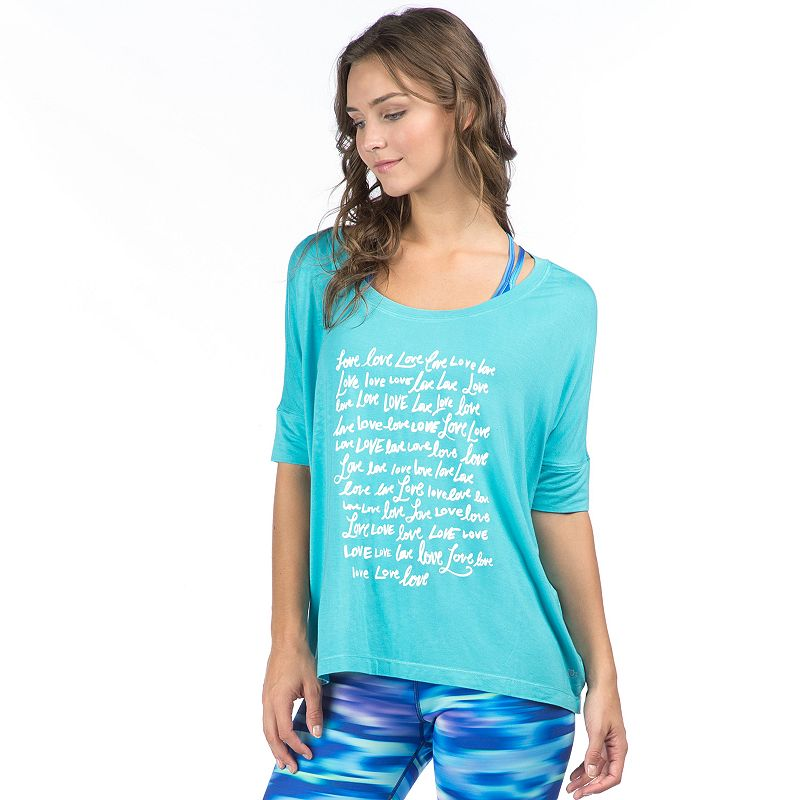 Women's PL Movement by Pink Lotus Love Graphic Dolman Tee