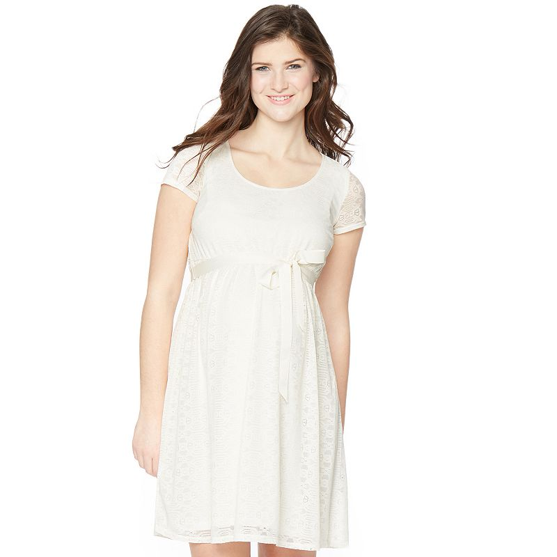 Maternity Oh Baby by Motherhood™ Lace Empire Dress