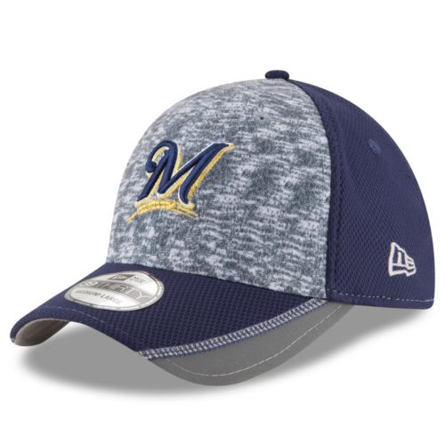 Adult New Era Milwaukee Brewers 39THIRTY Team Vigor Flex-Fit Cap