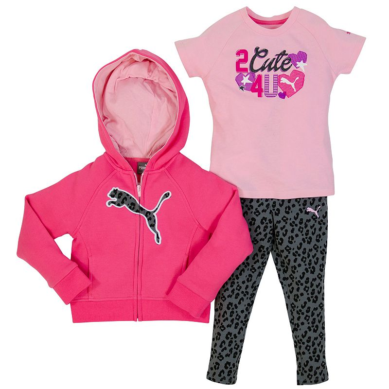 Baby Girl PUMA Hoodie & Cheetah Leggings Set