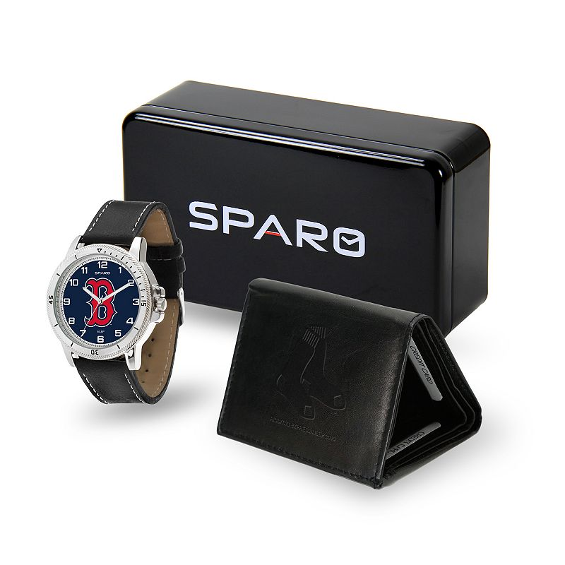 Sparo Boston Red Sox Watch and Wallet Set