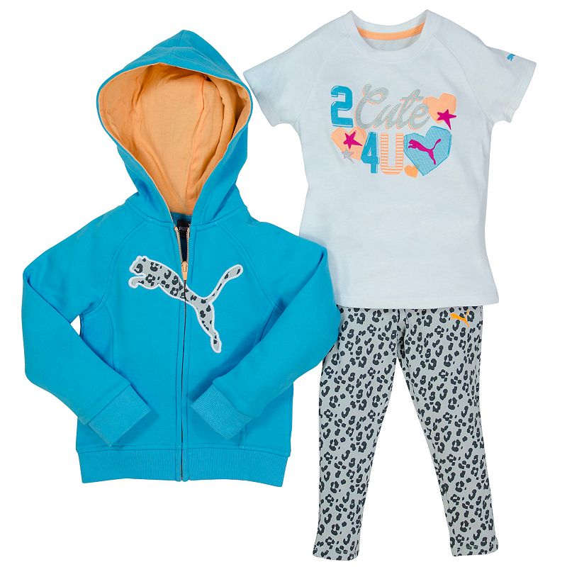 Girls 4-6x PUMA Hoodie & Cheetah Leggings Set