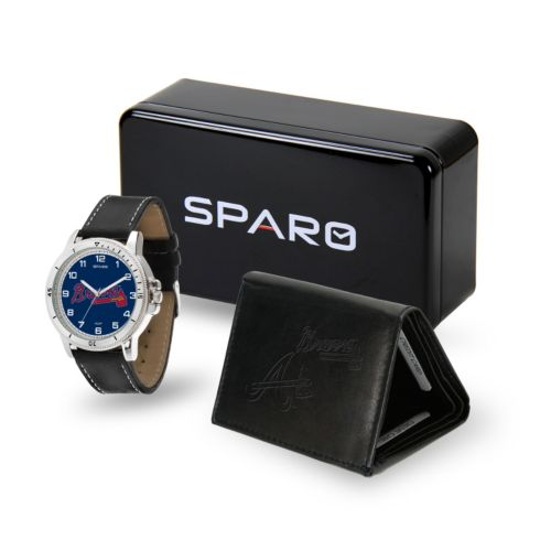 Men's Sparo Atlanta Braves Watch and Wallet Set