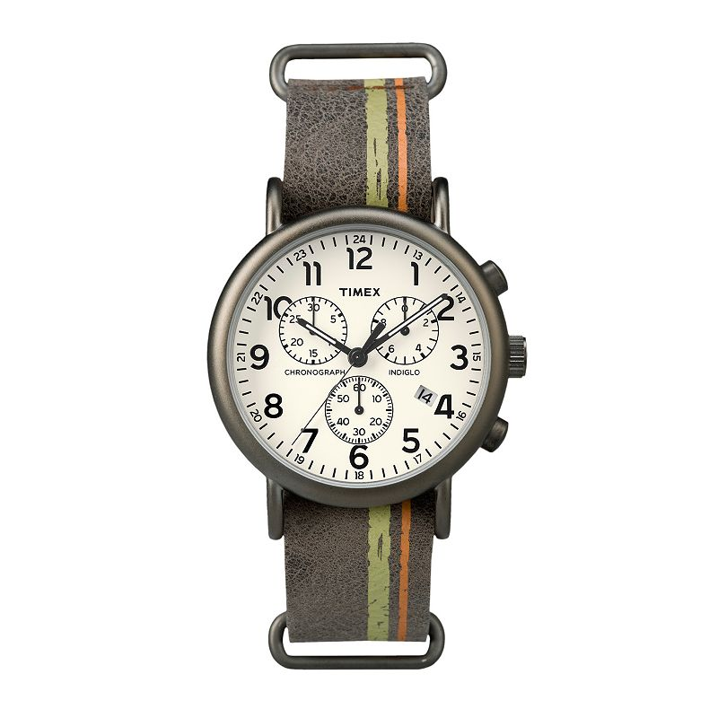 Timex Men's Weekender Leather Chronograph Watch - TW2P780009J