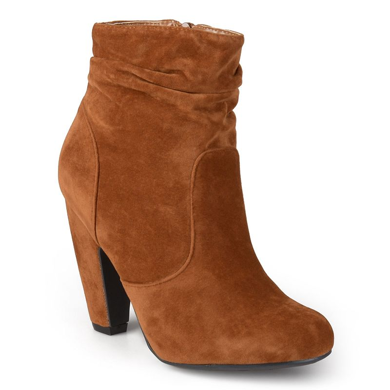 Journee Collection Qmork Women's Slouch Heeled Ankle Boots