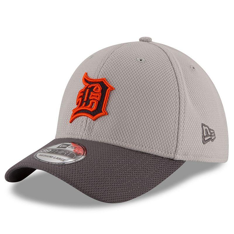 Adult New Era Detroit Tigers 39THIRTY Team Grayed Flex-Fit Cap