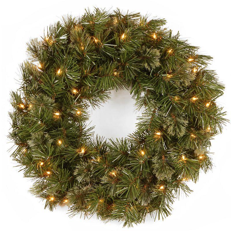 24-in. Pre-Lit Wispy Willow Artificial Wreath