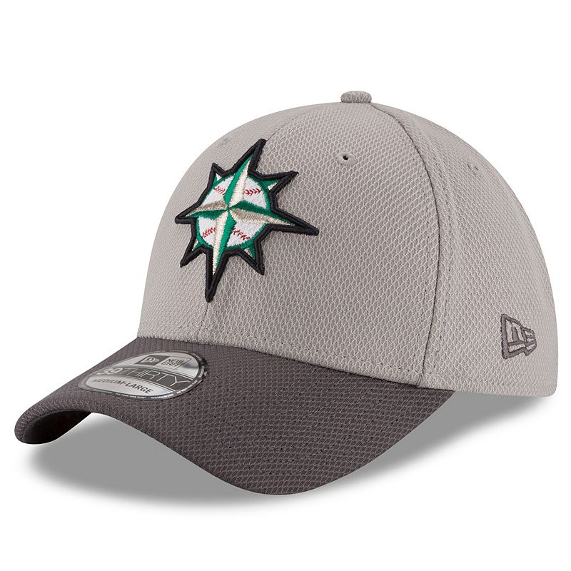 Adult New Era Seattle Mariners 39THIRTY Team Grayed Flex-Fit Cap