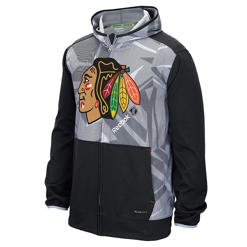 Reebok Men's Chicago Blackhawks TNT Zip-Front Hoodie