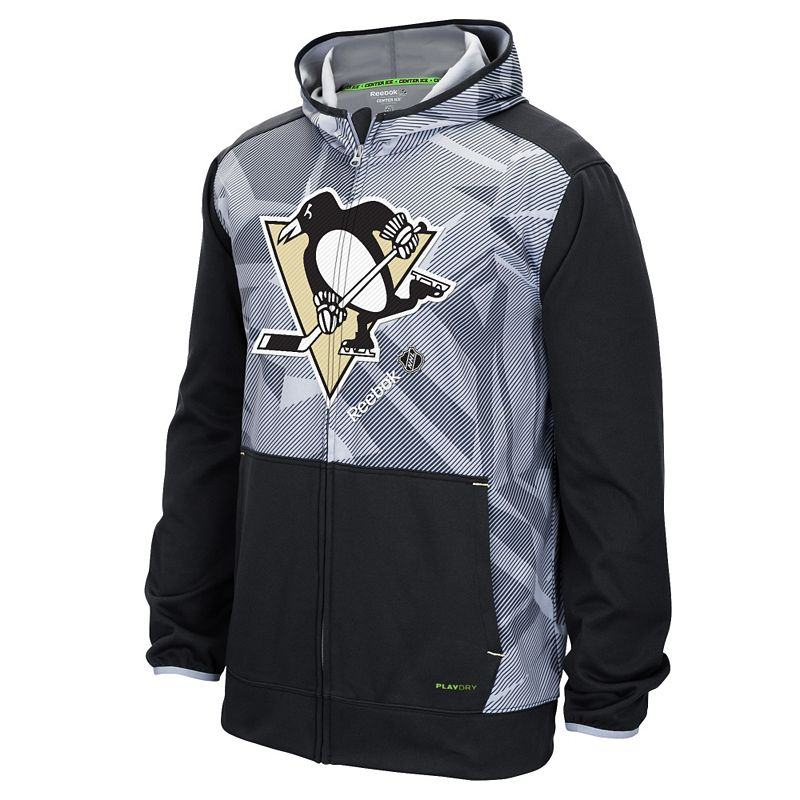 Reebok Men's Pittsburgh Penguins TNT Zip-Front Hoodie