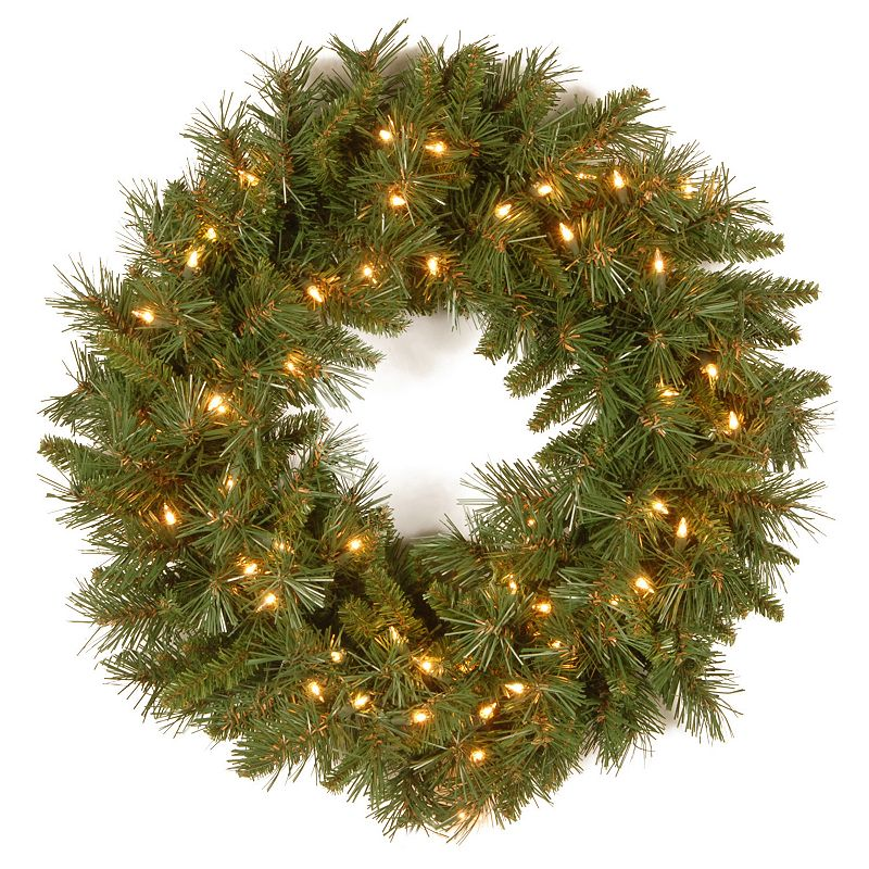 24-in. Pre-Lit Tiffany Fir Artificial Wreath