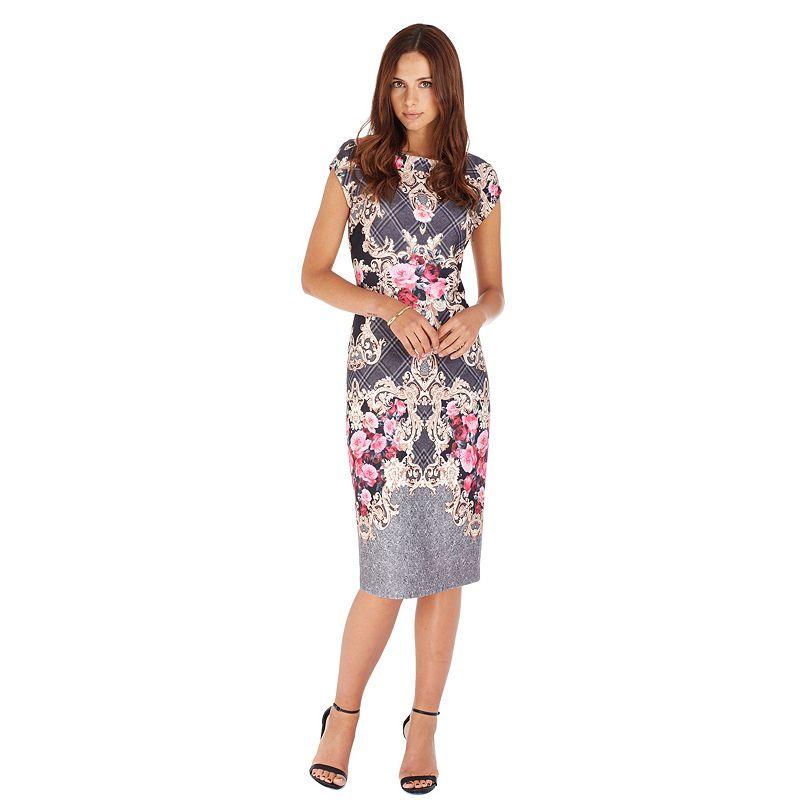 Indication by ECI Scroll Midi Sheath Dress - Women's