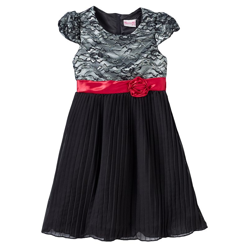 Nannette Rosette Dress - Girls 4-6x