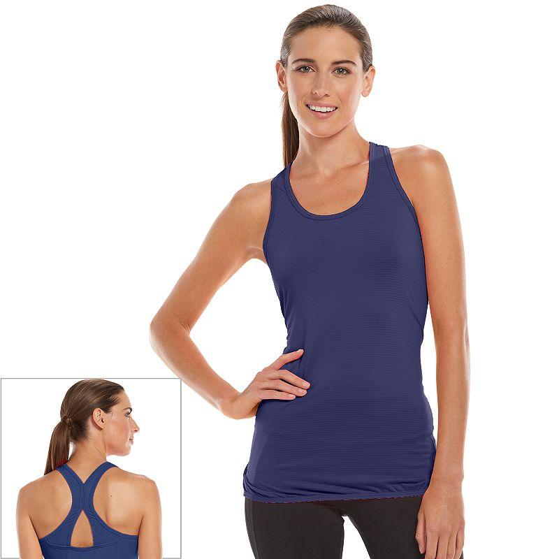 Women's Tek Gear® Banded-Bottom Racerback Workout Tank