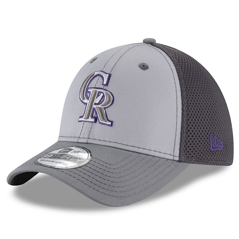 Adult New Era Colorado Rockies 39THIRTY Grayed Out Flex-Fit Cap