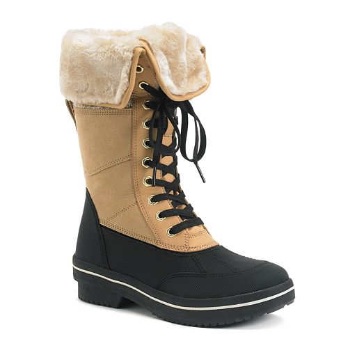Madden Girl Crrystal Women's Fold-Over Boots