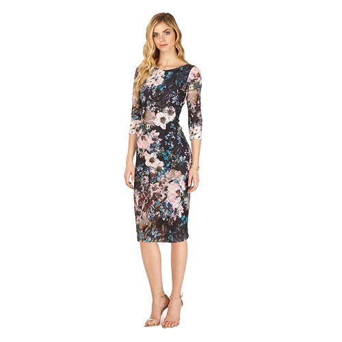 4c63d7745fa Women s Indication by ECI Floral Midi Sheath Dress- Kohl s - SpottedMod