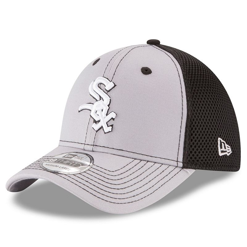 Adult New Era Chicago White Sox 39THIRTY Team Front Neo Flex-Fit Cap