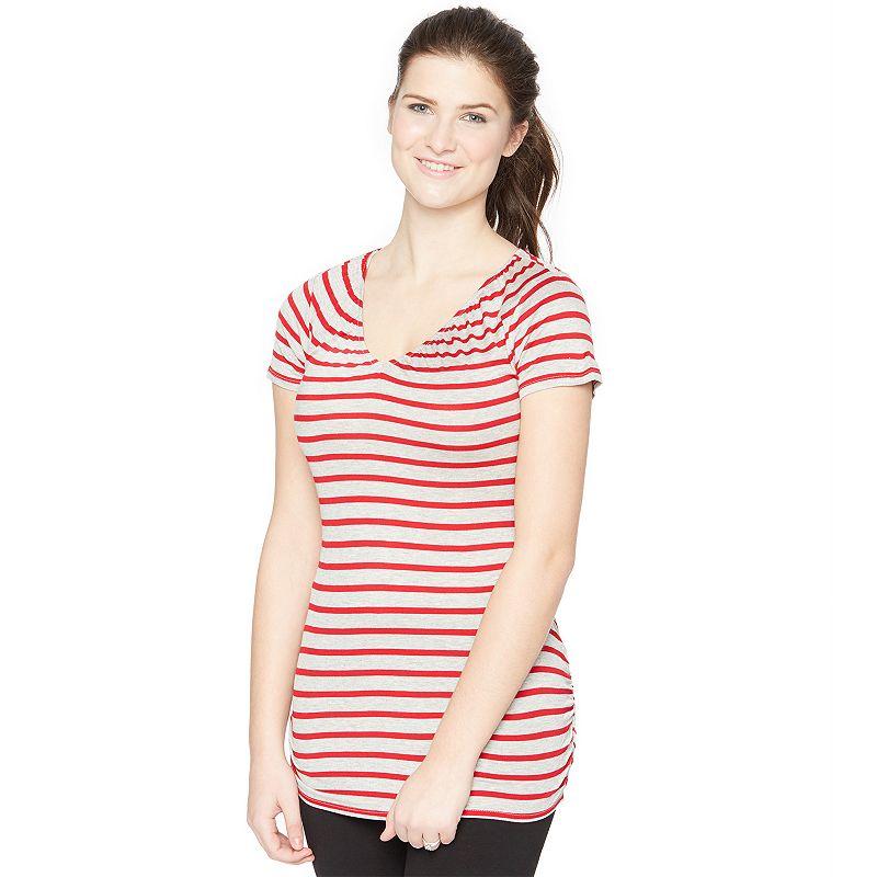 Maternity Oh Baby by Motherhood™ Striped Nursing Tee