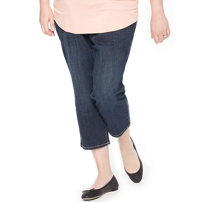 Plus Size Maternity Oh Baby by Motherhood™ Secret Fit Belly™ Capri Jeans