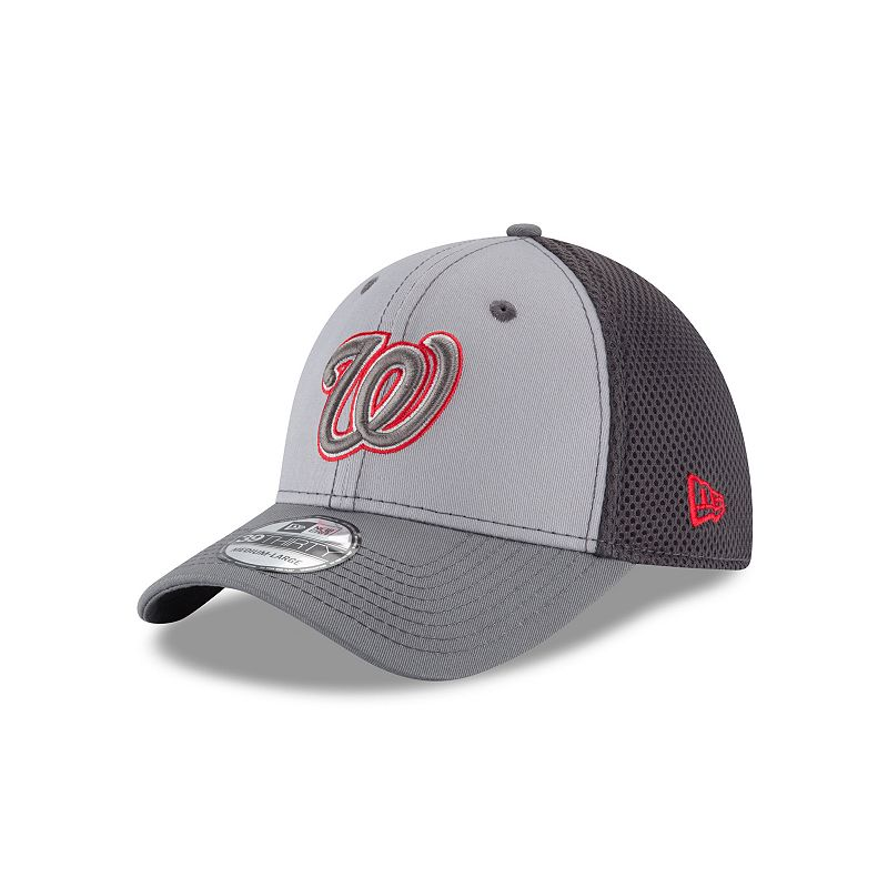 Adult New Era Washington Nationals 39THIRTY Grayed Out Flex-Fit Cap