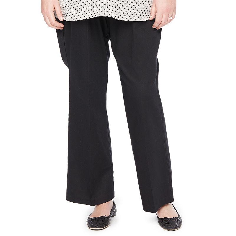 Plus Size Maternity Oh Baby by Motherhood™ Secret Belly Panel™ Twill Bootcut Pants