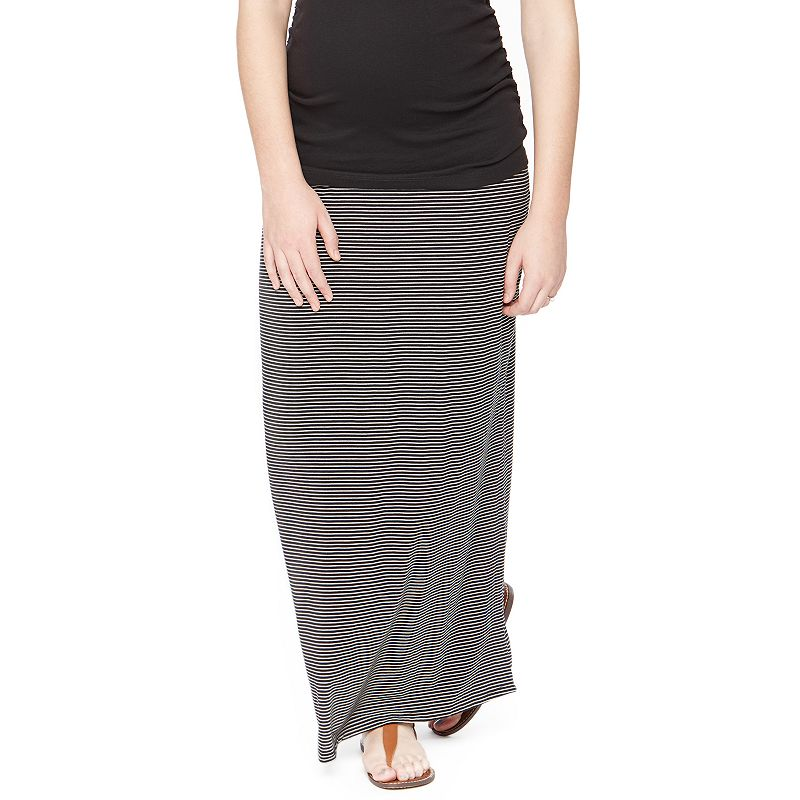 Maternity Oh Baby by Motherhood™ Secret Fit Belly™ Striped Maxi Skirt