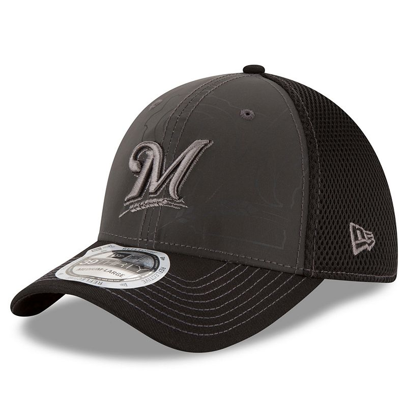 Adult New Era Milwaukee Brewers 39THIRTY Shadow Ref Neo Flex-Fit Cap