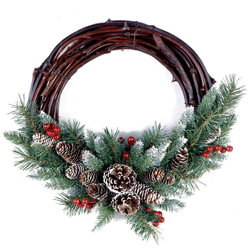 16-in. Artificial Frosted Berry Grapevine Wreath
