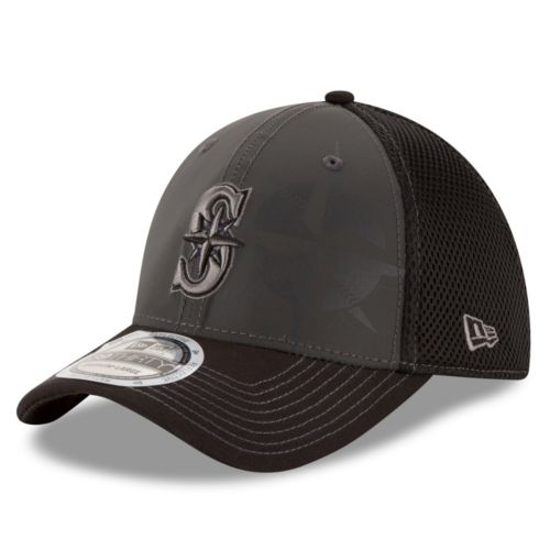 Adult New Era Seattle Mariners 39THIRTY Shadow Ref Neo Flex-Fit Cap