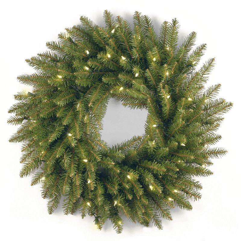 24-in. Pre-Lit Artificial Dunhill Fir Wreath