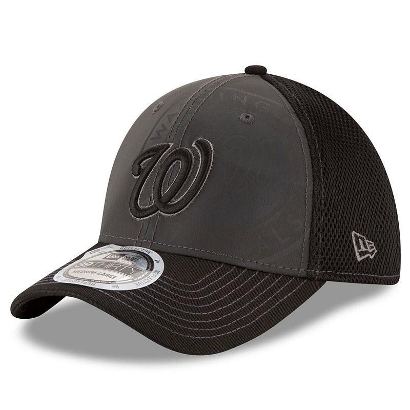 Adult New Era Washington Nationals 39THIRTY Shadow Ref Neo Flex-Fit Cap