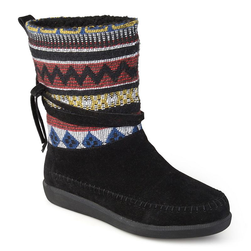 Journee Collection Women's Multi Fabric Boots