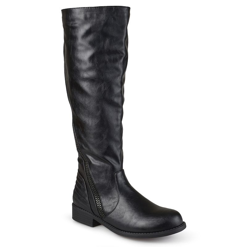 Journee Collection Slant Women's Zipper Riding Boots