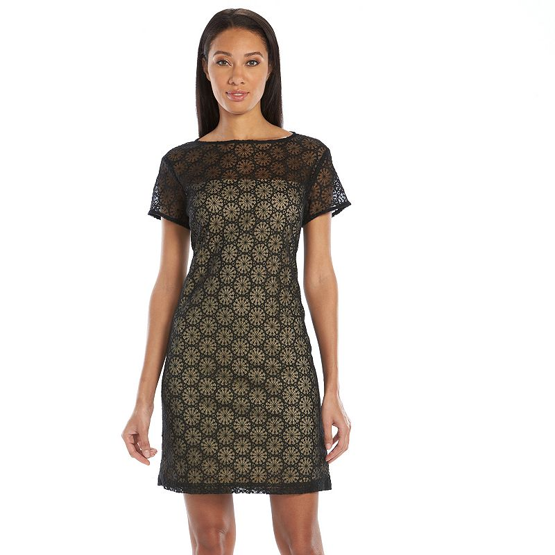 Sharagano Lace Sheath Dress - Women's