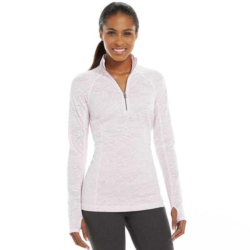 Women's Tek Gear® Mesh Quarter-Zip Raglan Workout Jacket