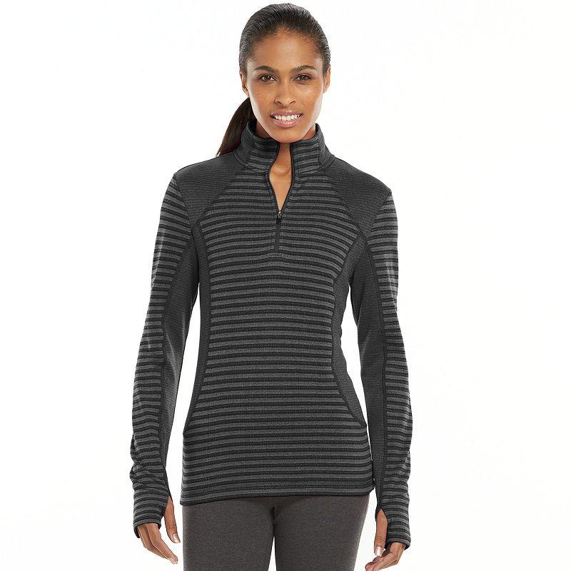 Women's Tek Gear® Pieced Quarter-Zip Raglan Workout Jacket