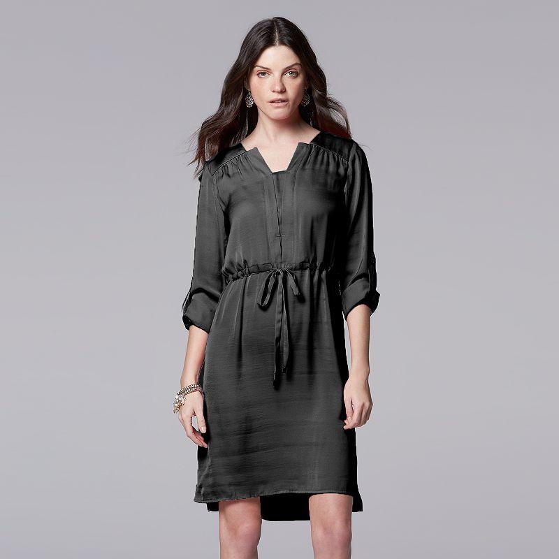Women's Simply Vera Vera Wang Solid Shirtdress