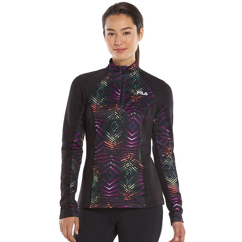 Women's FILA SPORT® Heathered Dash Fleece Quarter-Zip Jacket