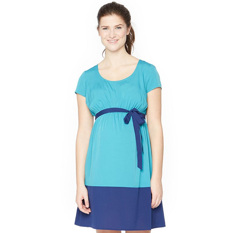 Maternity Oh Baby by Motherhood™ Colorblock Empire Dress