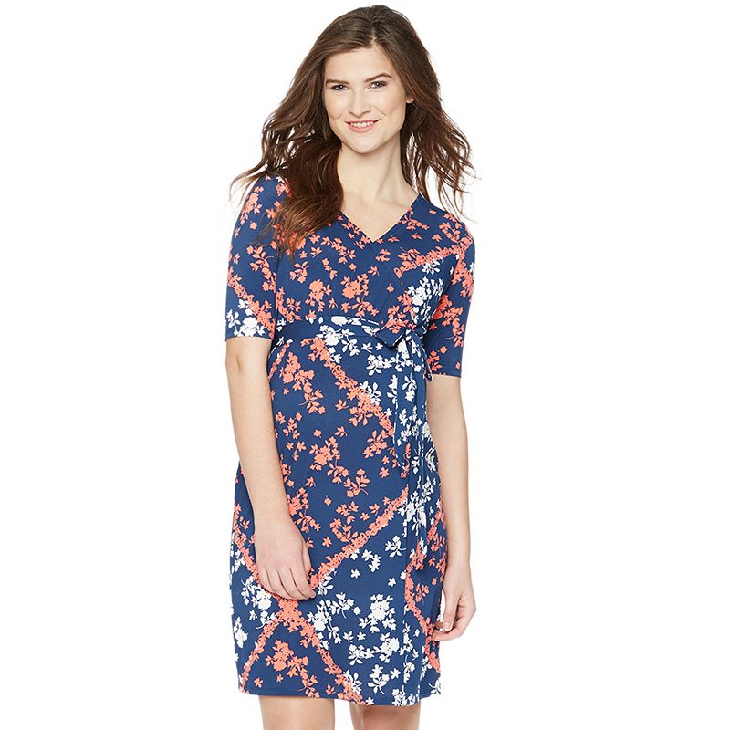 Maternity Oh Baby by Motherhood™ Floral Faux-Wrap Dress