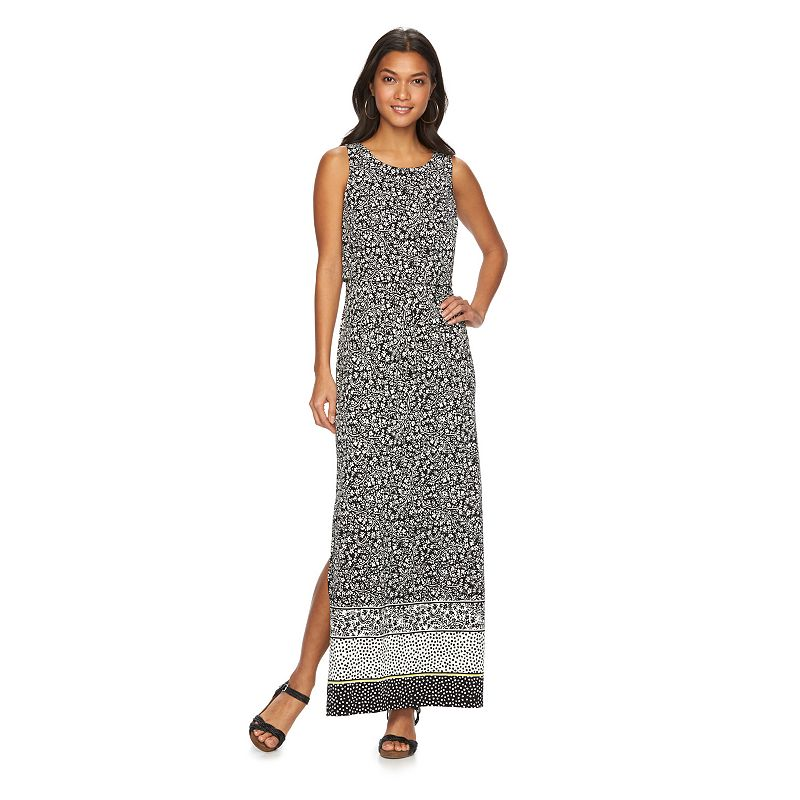 Women's Floral Popover Maxi Dress