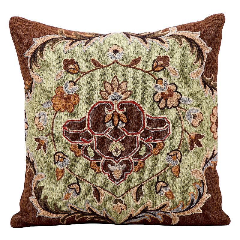 Kathy Ireland Pistachio Floral Throw Pillow