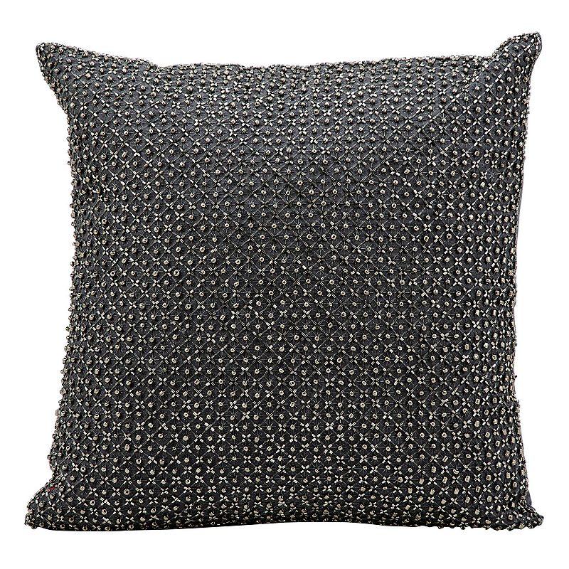 Beaded Grey Throw Pillow : Kathy Ireland Beaded Throw Pillow DealTrend