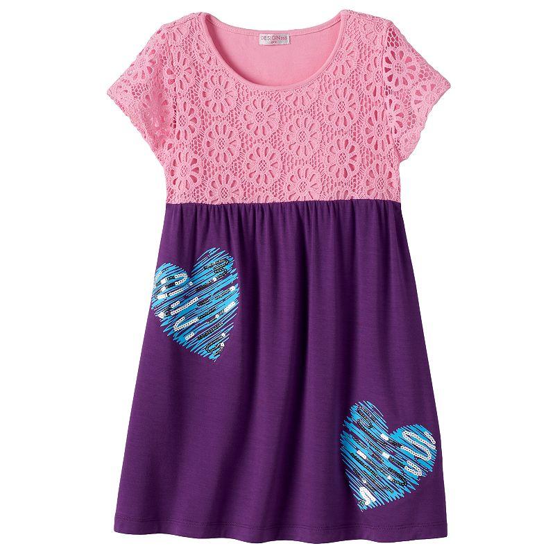 Design 365 Girls 4-6x Crochet Lace Dress