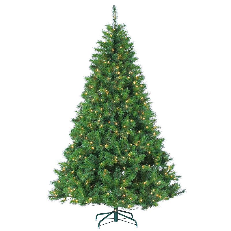 Sterling 7.5' Hard/Mixed Needle Wisconsin Spruce Multi-Colored Artificial Christmas Tree